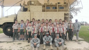 Troop 845 at Fort Hood